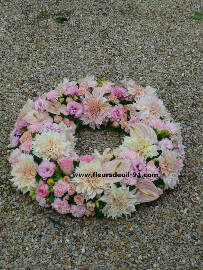 couronne plate pastel rose Etampes
