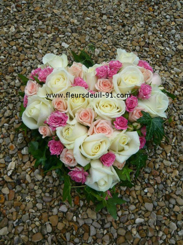 Petit coeur pour deuil fleuriste etampes,morigny et etrechy