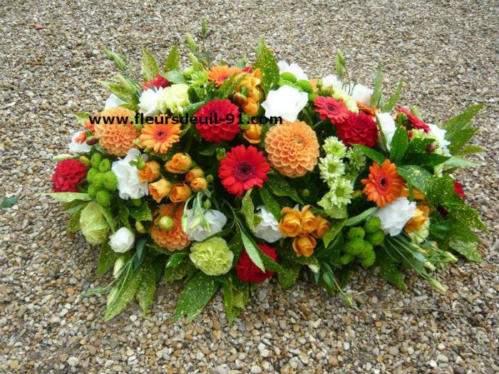 Petit coussin de fleurs pour deuil livraison sur Etampes,Arpajon et Etrechy 91